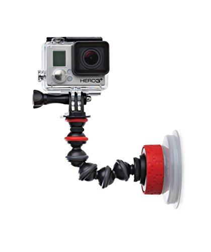 JOBY GorillaPod Ventosa e Braccetto per GoPro, Action Camera, Bloccaggio a Rotazione, Accessori per Fotocamera, JB01329-BWW