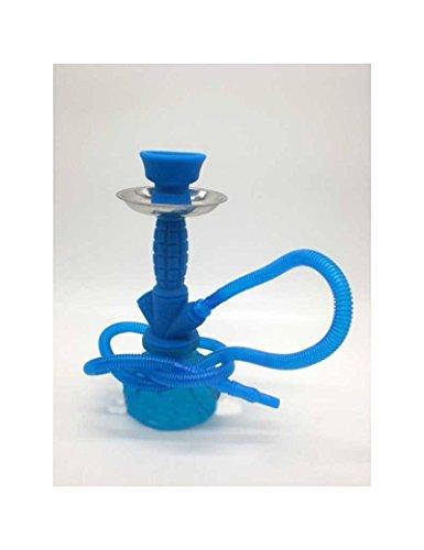 FumandoEspero Shisha - Cachimba Pequeña de Silicona (24 cm) - Color: Azul