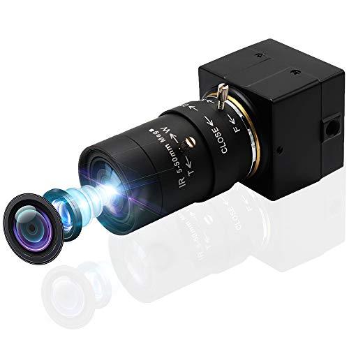 Svpro USB Web Camera 5-50mm Zoom manuale Varifocal Telecamera 2MP MJPEG 120 fps 640× 480,60 fps a 1280 × 720,30 fps a 1920 × 1080 Mini scatola Cmos Usb Camera HD 1080P