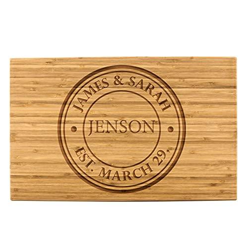 Personalized Bamboo Cutting Board (11 x 17' Single Tone,...