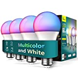 Smart Light Bulbs 4 Pack, Treatlife 2.4GHz Music Sync Color Changing Light Bulb, Works with Alexa...