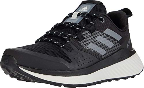 adidas Women's Terrex Folgian Hiker Hiking Boot, Black/Grey/Green Tint, 8 M US