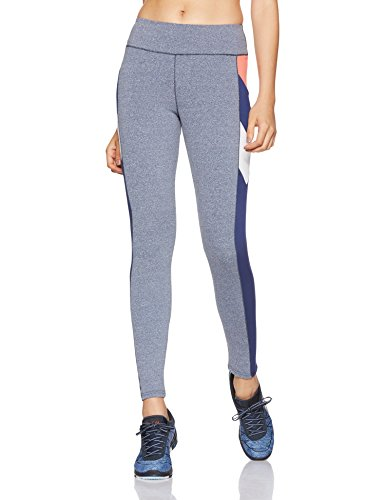 Just F by Jacqueline Fernandez Women's Sports Tights (12004_Navy Melange_X-Large)