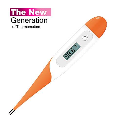 Medical Digital Thermometer, Fever Thermometer for Babies, Children and Adults, Accurate Fast Temperature Reading Body Thermometer for Oral, Armpit or Rectal Temperature