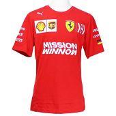 Scuderia Ferrari 2019 F1 Collection T-Shirt da Uomo Sebastian Vettel. (M)
