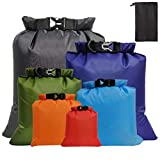 Fantye 6 Pack Waterproof Dry Sacks, Lightweight Outdoor Dry Bags Ultimate Dry Bags for Rafting Boating Camping (1.5L, 2.5L, 3L, 3.5L, 5L, 8L)