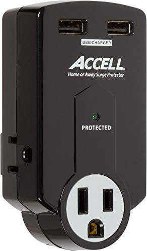 Accell Power Travel Surge Protector - 3...