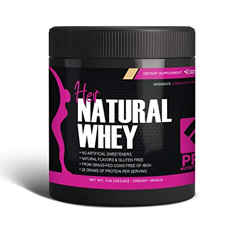 Protein Powder For Women - Her Natural Whey Protein Powder For Weight Loss & To Support Lean Muscle Mass - Low Carb - Gluten Free - rBGH Hormone Free - Naturally Sweetened with Stevia - Designed For Optimal Fat Loss (Creamy Vanilla) - Net Wt. 1 LB 1