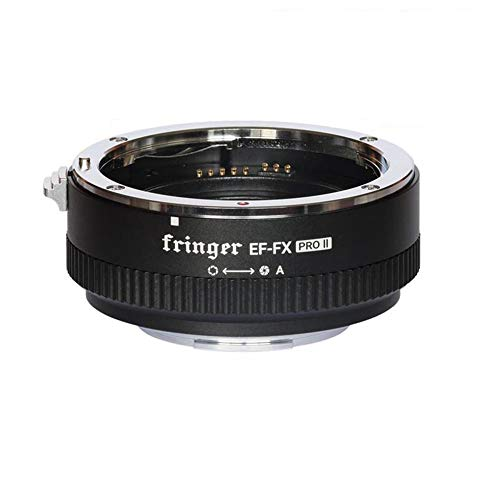 Fringer EF-FX PRO II Auto Focus Mount Adapter for Canon EF Lens to Fujifilm Compatible for Fujifilm XT4 XT3 XT2 XT20 X-H X-T X-PRO X-E EF-FX2 PRO