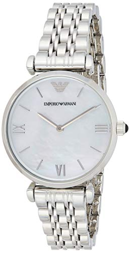 Emporio Armani Damen Analog Quarz Uhr mit Edelstahl Armband AR1682