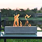 Colsen Tabletop Rubbing Alcohol Fireplace Indoor Outdoor Fire Pit Portable Fire Concrete Bowl Pot Fireplace (Rectangular)
