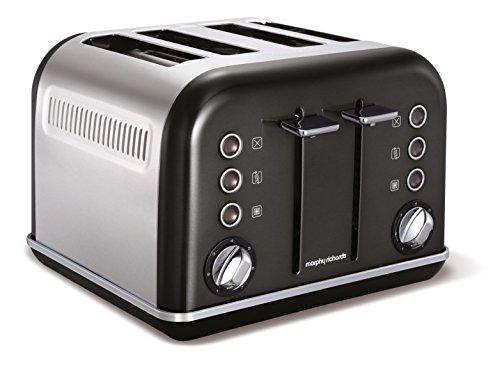 Morphy Richards Accents Toaster 4   Met 4 sleuven voor dun of dik brood   Vermogen van 1800 W   7 bruiningsniveaus en ontdooifunctie