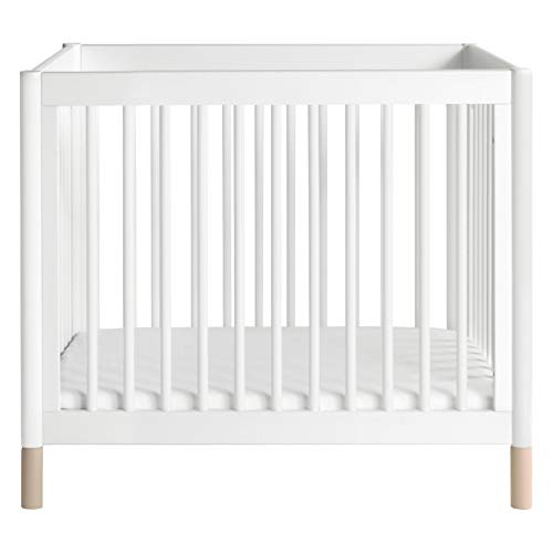 Product Image 4: Babyletto Gelato 4-in-1 Convertible Mini Crib in White / Washed Natural, Greenguard Gold Certified