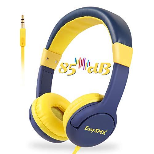 EasySMX Casque Audio Enfant avec Limiteur de Volume, Casque de Protection Oreilles Confortable pour Enfant 3-12 Ans (Prince Bleu)