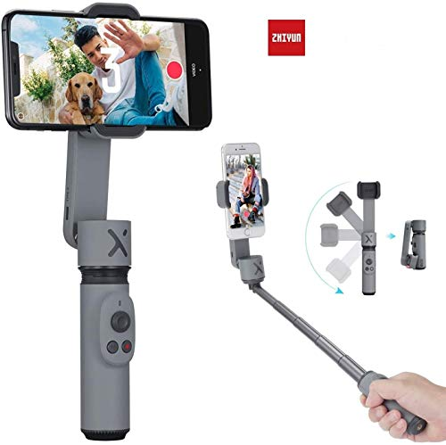 Zhiyun Smooth X Smooth-X 2- Axis Smartphone Gimbal Stabilizer for iPhone 11 Pro Xs Max Xr X 8 Plus 7 6 SE Smartphone Samsung Galaxy Huawei Vivo-Grey