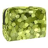 Bolsa de maquillaje portátil con cremallera bolsa de aseo de viaje para mujeres práctico almacenamiento bolsa de cosméticos luz y sombra