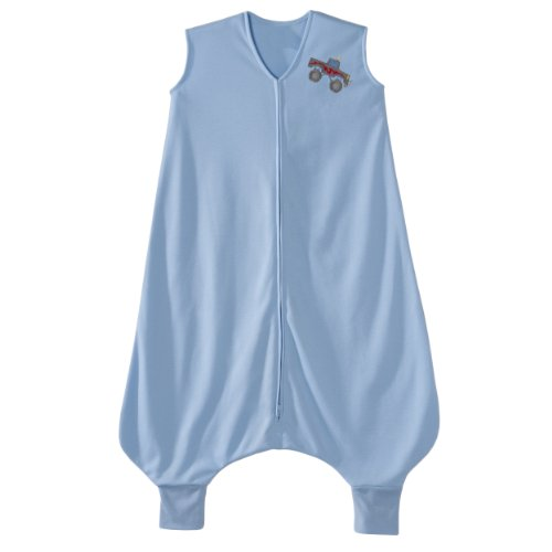 HALO Big Kids Sleepsack Lightweight Knit Wearable Blanket, Blue, 2-3T