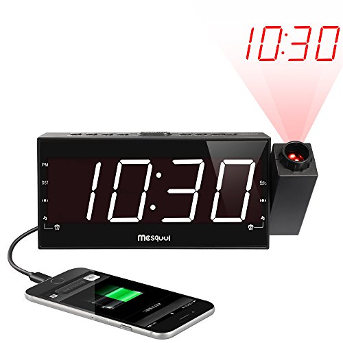 Mesqool Projection Alarm Clock for...