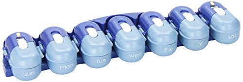 Fit & Healthy Portable Pill Organizer Pod Containers