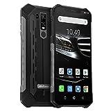 Ulefone Armor 6E Smartphone Incassable Dual Sim 4G IP68 / IP69K Écran Full HD+ 6.2' Telephone Portable Android 9.0 Octa-Core 4Go RAM et 64Go ROM, 5000mAh, NFC, OTG, Charge sans Fil - Noir EU Version