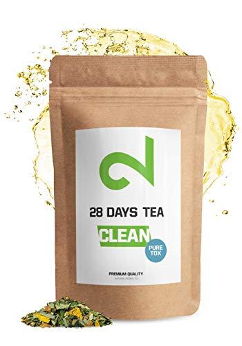 DUAL 28 Days D-tox Tea - Té Desintoxicante   Para Pérdida de Peso  Té Adelgazante y Purificador  Infusión de Dieta Para Pérdida de Grasa Quemagrasa Natural Té de hojas sueltas Hecho en Alemania  85g