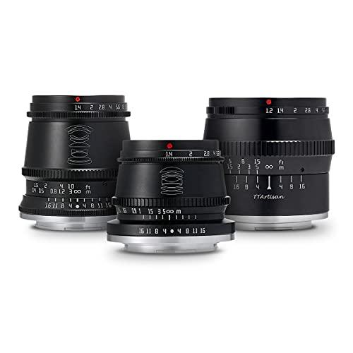 【国内正規品】銘匠光学 TTArtisan レンズ3本セット (キヤノンEF-Mマウント) 17mm f/1.4 C ASPH + 35mm f/1.4 C + 50mm f/1.2 C