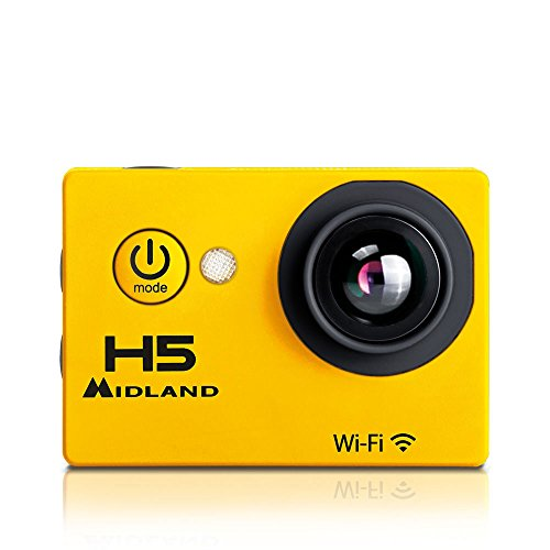 MIDLAND C1208 H5 VideoCamera Full HD con Wi-Fi, 5MP, Giallo/Nero