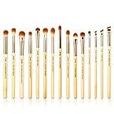 Set de brochas de bambú para maquillaje profesional, kit de herramientas de...