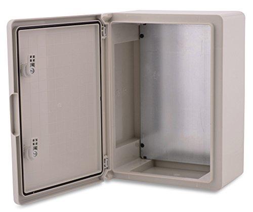 BOXEXPERT Custodia di plastica in ABS BOXEXPERT Quadro elettrico per flotte IP65 grigio/trasparente...