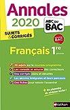 Annales ABC du Bac 2020 Français 1re