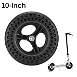 Konesky 10 inch Electric Scooter Tire,Black Non-Slip Hollow Non-Pneumatic Electric Scooter Tyre Replacement for Xiaomi M365 Scooter