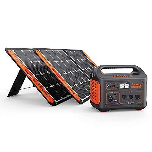 Jackery Solar Generator 1000, Explorer 1000 and 2X SolarSaga 100W...