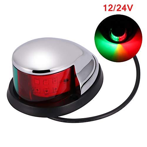ONEVER Zweifarbige Signallampe für Boote und Yachten LED-Navigationslicht 2NM Navigationslicht für Boote an Deck