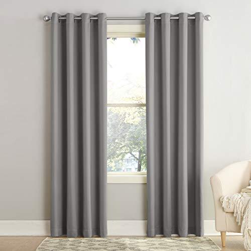 Sun Zero 50969 Barrow Energy Efficient Grommet Curtain Panel, 54'...