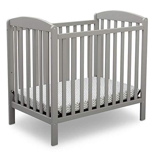 Product Image 1: Delta Children Emery Mini Convertible Baby Crib with 2.75-inch Mattress, Grey