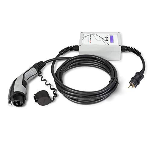WallboxOk EV Portable Cargador Portátil Coches Eléctricos Tipo 1 (SAE J1772)- SCHUKO 16A, 1.4kW/4.7kW