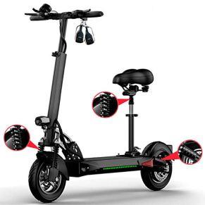 LHLCG Scooter eléctrico Plegable de 10 Pulgadas E-Scooter Aleación de Aluminio Ultraligero Scooters de Dos Ruedas…