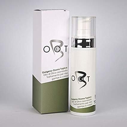 Olio di Oliva Ozonizzato alla profumazione di zenzero (50 ml) - OOT Ossigeno, Ozono Topico. Trattamento per viso, gambe e corpo.