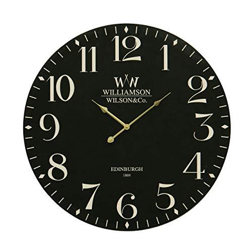 Premier Housewares Orologio da parete classico, 60 cm, colore: Nero