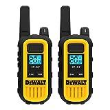 DEWALT DXFRS300 1 Watt Heavy Duty Walkie Talkies - Waterproof, Shock Resistant, Long Range & Rechargeable Two-Way Radio with VOX (2 Pack)