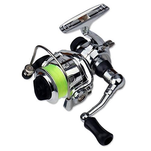 Mulinello da Pesca Sairis Mini XM100 Mulinello da Pesca in Acciaio Inossidabile Mulinelli da Pesca Accessori per Attrezzatura da Pesca (Argento e Nero)