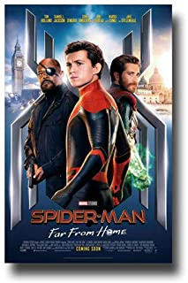 Spider Man Far from Home Poster Movie Promo 11 x 17 inches Main Tom Holland