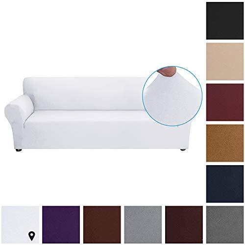 Fesjoy Couch Covers Fodera per Divano Elasticizzata in Tessuto di Seta di Latte Copridivano Morbido...