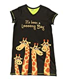 Lazy One V-Neck Nightshirts for Women, Animal Designs (Long Day, L/XL)