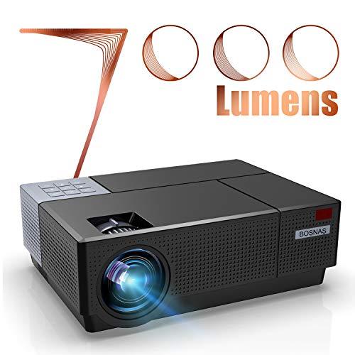 Videoproiettore Full HD, BOSNAS Proiettore 1080p Nativo 7000 Lux Supporta 4K y Sonori Dolby, Correzione Trapezoidale 4D...