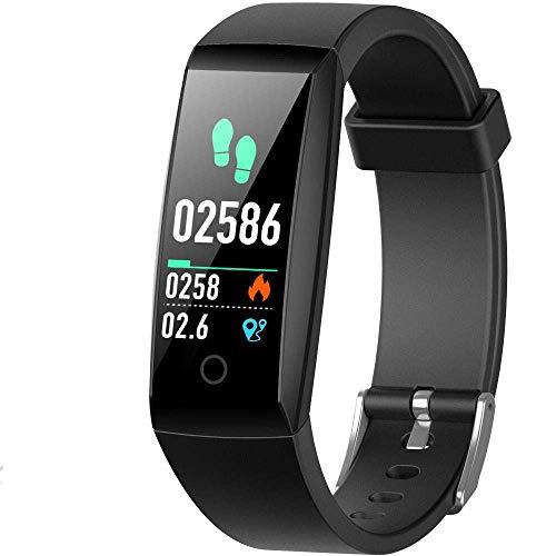 HETP Orologio Fitness Tracker Cardiofrequenzimetro da Polso Impermeabile IP67 Activity Tracker GPS...