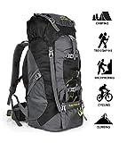 outlife 60L Borsa da alpinismo Zaino Impermeabile da Escursionismo Borsa da Trekking Campeggio Viaggio Zaino Ultraleggero per Sport all'Aperto (Nero)