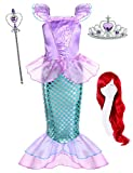 Joy Join Little Girls Princess Mermaid Costume for Girls Dress Up Party with Wig,Crown, Mace  Mermaid 29 With Accessories, 2-3 Years