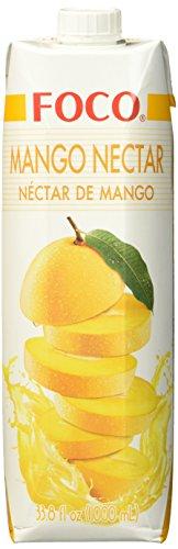 FOCO Mango, Nektar, exotischer Geschmack, wohltuender Durstlöscher, erfrischendes Kaltgetränk, vegan, 12 x 1000 ml
