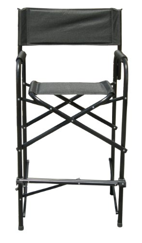 Impact Canopy 460019902 Tall Director's Chair, Black